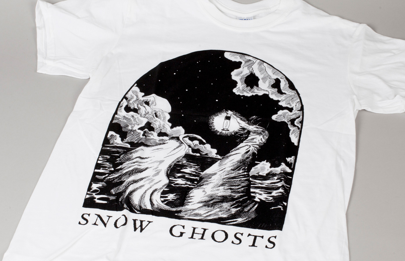 snow ghosts t-shirt